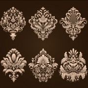 Link toOrnamental floral damask elements vector 01 free