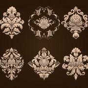 Link toOrnamental floral damask elements vector 03 free