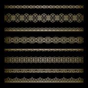 Link toOrnate golden borders ornament vector 01 free