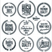 Link toOrnate high quality labels vector 01 free