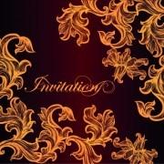 Link toOrnate invitation creative design background art 02 vector