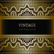 Link toOrnate lace and vintage background vector graphics 03 free