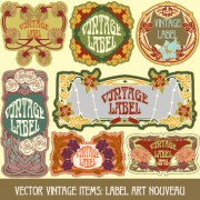 Link toOrnate vintage labels creative vector set 08 free