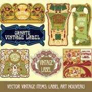 Link toOrnate vintage labels creative vector set 09 free