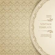 Link toOrnate vintage template background vector 04 free