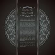 Link toOrnate vintage template background vector 05 free