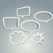 Link toOutline speech bubble design vector free