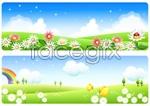 Link toOutside of summer scenery vector