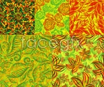 Link toOverlapping patterns of flowers background vector