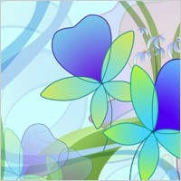 Link toOversized ultra clear theme flower layered psd1