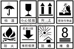 Link toPacking and shipping warning signs vector