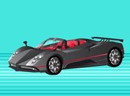 Link toPagani zonda sports car vector free
