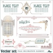 Link toPage decoration borders and frames vector 04 free