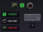 Link toPage fluorescent buttons psd