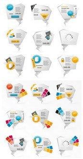Link toPage origami design vector