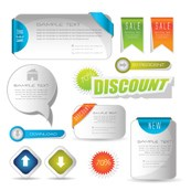 Link toPage template vector graphics