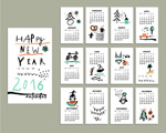 Paint calendar cards vector