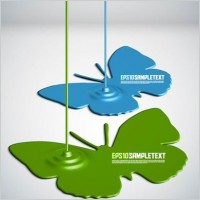 Link toPaint drip shape design background vector 5