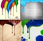 Link toPaint drip splash background vector
