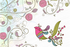 Link toPainted bird patterns vector