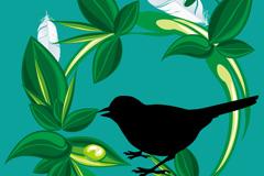 Link toPainted bird tree vector
