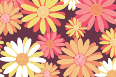Link toPainted daisy seamless vector background