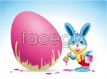 Link toPainted easter egg bunny vector