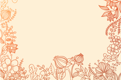Link toPainted floral border background vector