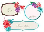 Link toPainted flower border vector