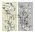 Link toPainted flower flowers vector