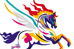 Link toPainted horse vector