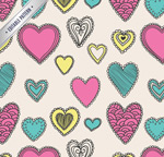 Link toPainted love seamless background vector
