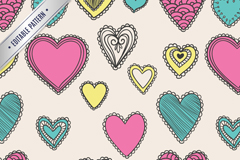 Link toPainted love seamless vector background illustration