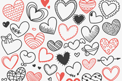 Link toPainted love seamless vector background