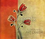 Link toPainted retro flower background vector