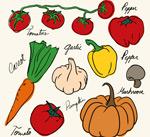 Link toPainted vegetable design vector