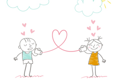 Link toPainting lovely couple vector
