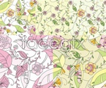 Link toPainting plant fabric backgrounds vector