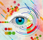 Link toPainting the eye background vector