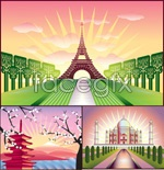 Link toPainting the world landscape vector