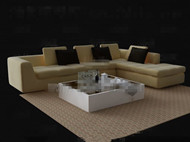 Link toPale yellow sofa and tea table combination 3d model