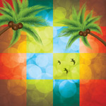 Link toPalm tree color backgrounds vector