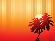 Link toPalm trees sunset vector free