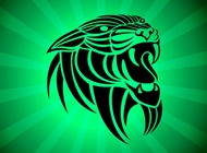 Link toPanthera tribal vector free