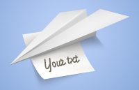Link toPaper airplane with a note psd