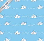 Link toPaper boat folding seamless background vector