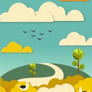 Link toPaper cartoon natural scenery vector graphic free