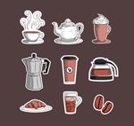 Paper coffee icon vector