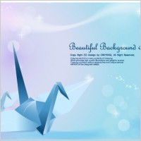 Link toPaper cranes and vector fantasy background