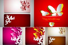 Link toPaper-cut butterfly card design vector